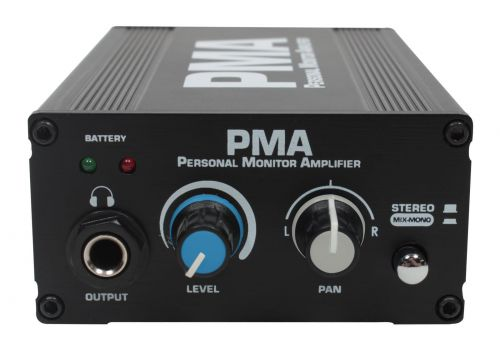 Personal Monitor Amplifier with Mount,  In-ear monitor with 18-Inch  headphone extension Cable